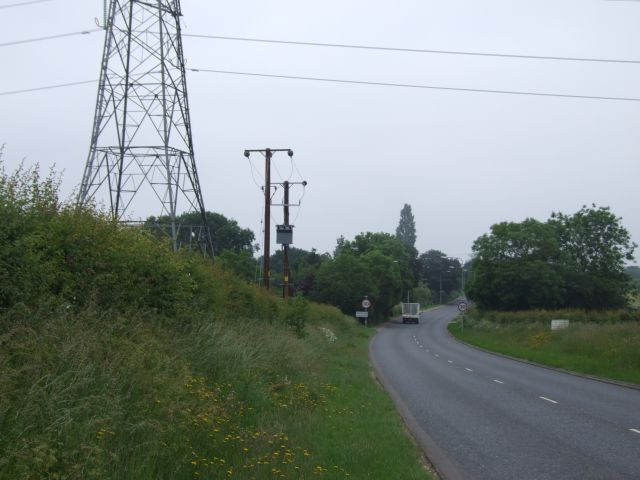 Electricity Pylon at Dereham (Toftwood) Boundary on A1075