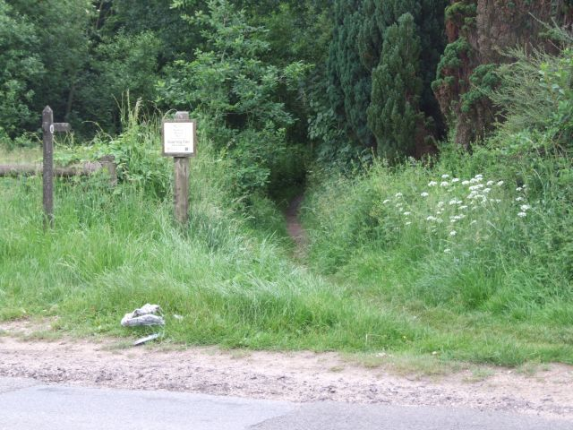 Start of Footpath to Potter's Fen and Scarning Fen