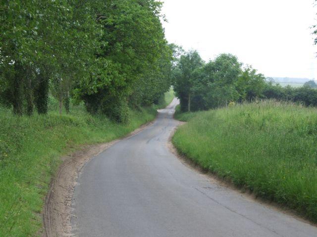 Looking along Bradenham Lane