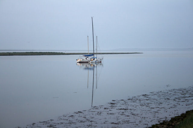 Boats moored in South Deep near Fowley Island