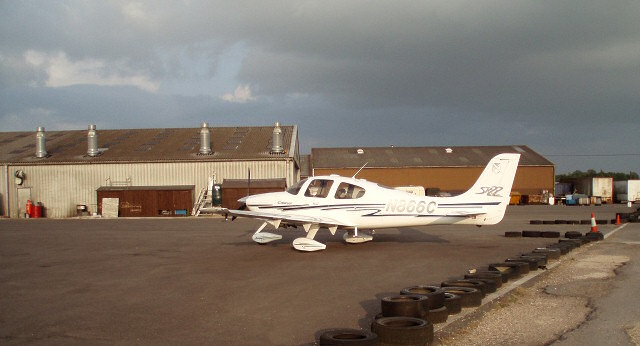 Small plane at Turweston Airfield