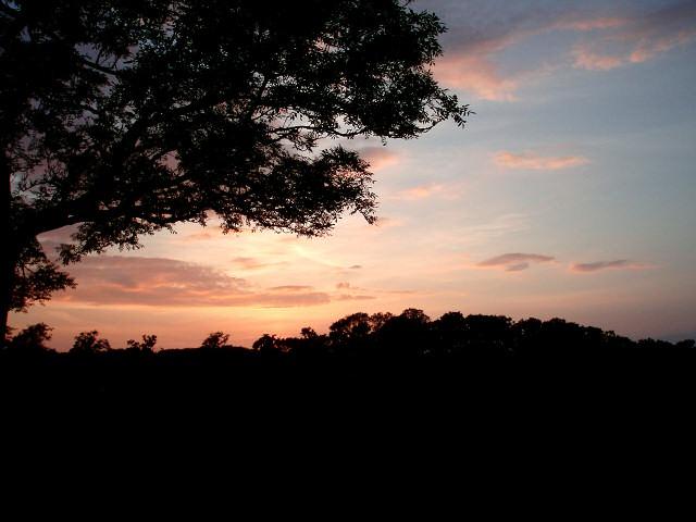 Sunset from Westbury Circular Ride