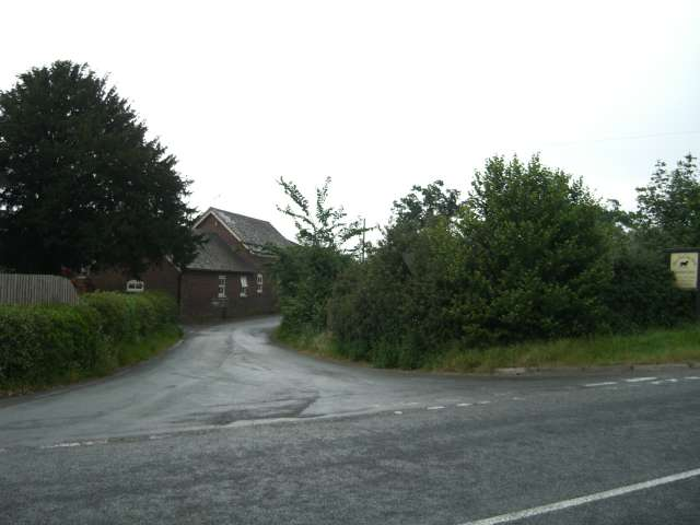 Junction of B5500 and Pear Tree Lane