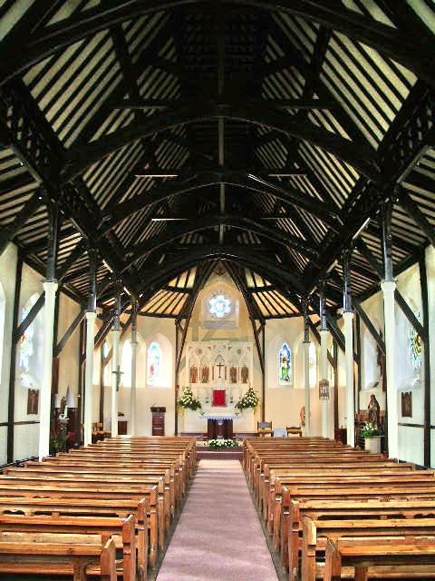 Interior of St Anne's RC Church, Westby Mills.