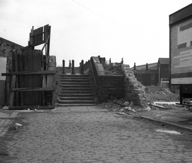 Steps to the Halfpenny Bridge, Rochdale
