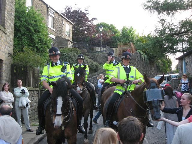 Police Horses in Delph