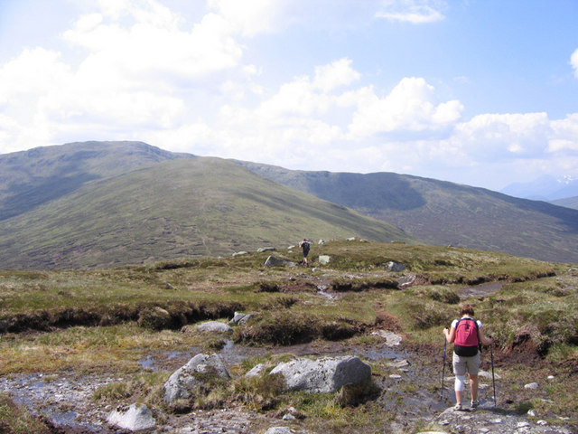Just above Mam Ban, Carn Dearg beyond
