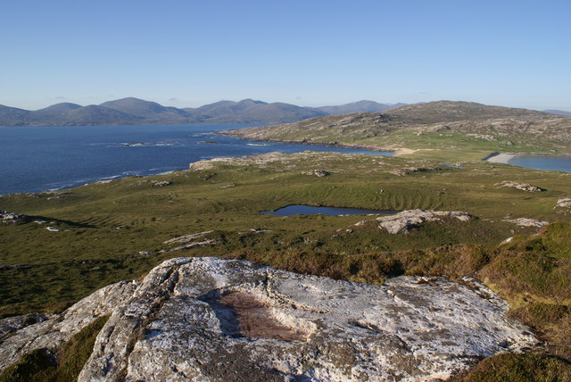 Taransay - View from top of Neishnaval
