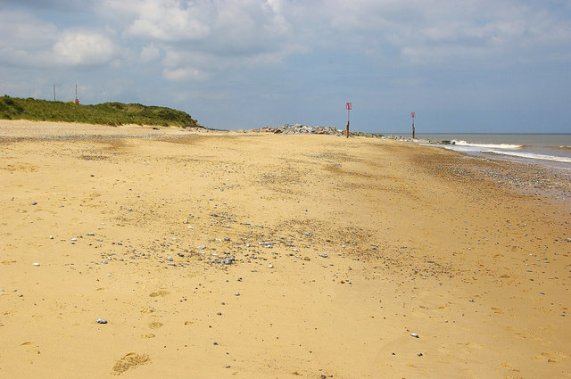 Beach at northern end of Caister