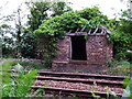 NS3573 : Old lineside hut by Thomas Nugent