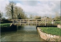 SU0463 : Bishops Cannings Swing Bridge - No.133 - K&A Canal 2004 by Maurice Pullin