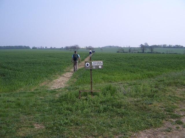Footpath at White House Farm, Bozeat