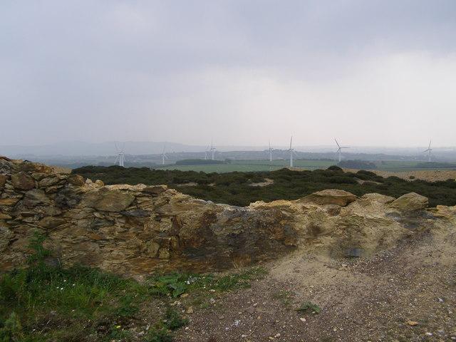 Windfarm seen from Parys Mountain