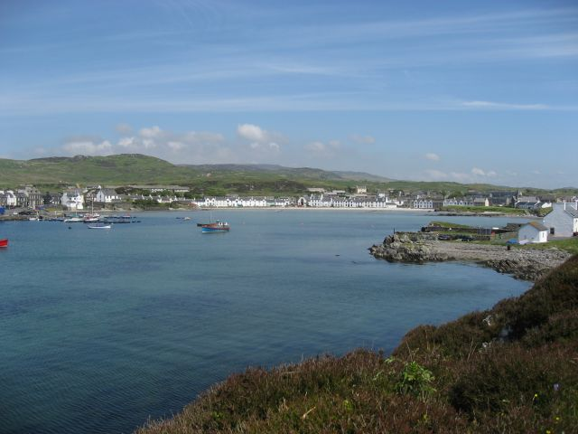 The bay at Port Ellen viewed from the Ard
