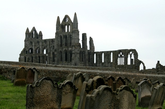 Whitby Abbey and St Marys Graveyard.
