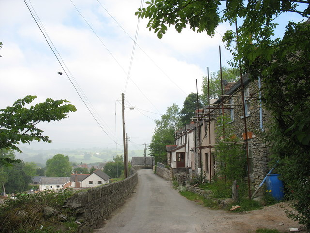 A terrace of houses on the Cynwyd mountain road