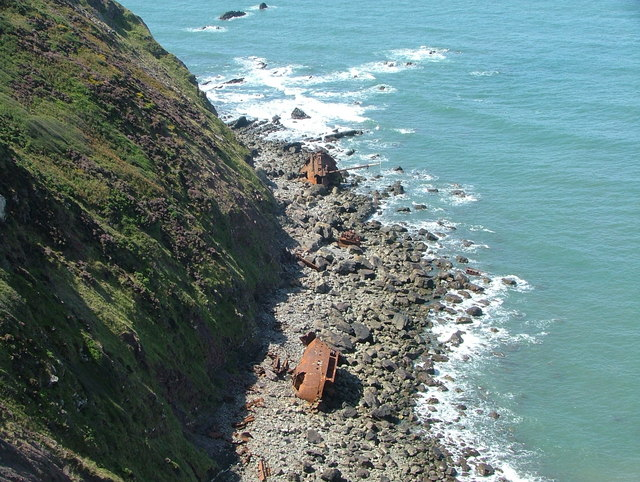 Hartland Point (showing wreck of Johanna)