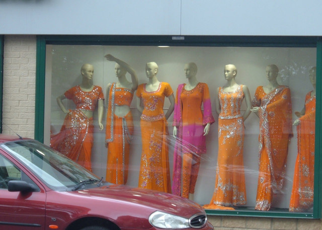 Home to textiles, ethnic jewellery shops and Pakistani and Indian clothing stores, as well