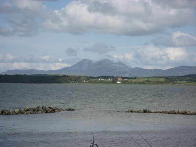 The Paps of Jura seen from Bowmore Jetty