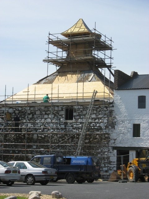 Refurbishment at the Ardbeg Distillery