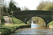 SU1761 : Milkhouse Water Bridge - No.112 - K&A Canal - 2002 by Maurice Pullin