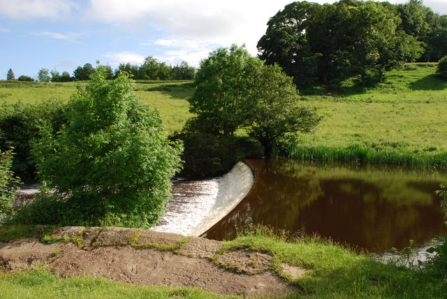 Weir on river Aln
