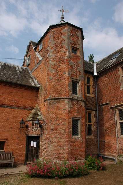 Stair tower at Hellens Manor