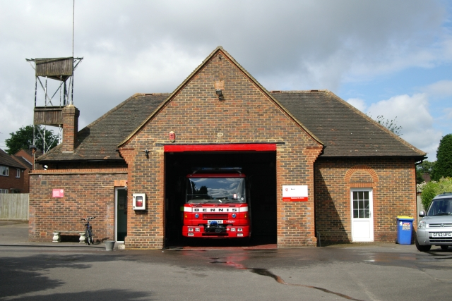tq4454 westerham fire station near to westerham kent great britain