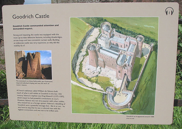 Informative sign, Goodrich Castle