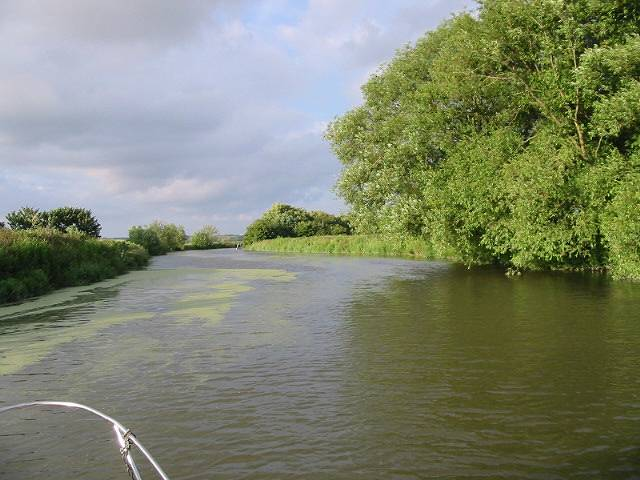 View looking downstream along the River Stour