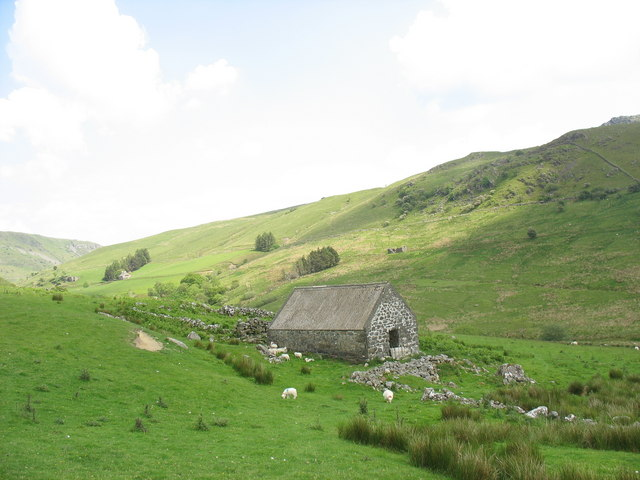 Barn and enclosure above the Mawddach