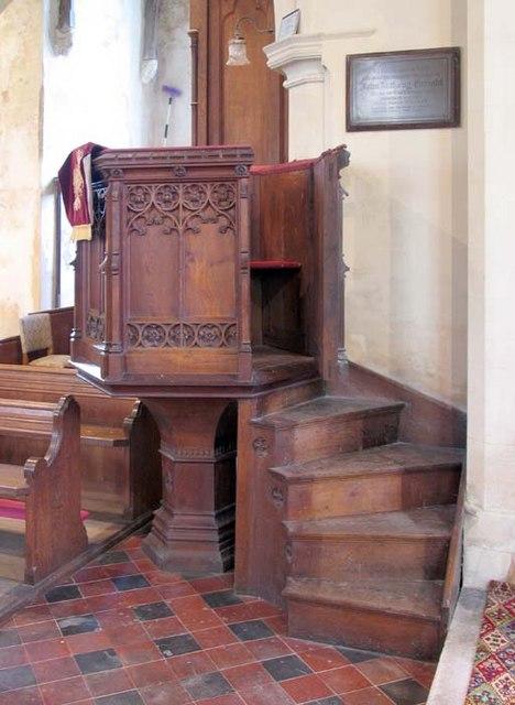St Peter, Haveringland, Norfolk - Pulpit