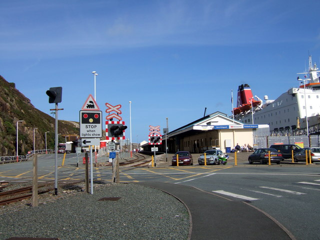 Fishguard Harbour ferry and rail terminal
