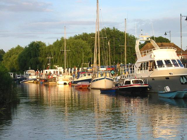 Boats on the quay at Sandwich