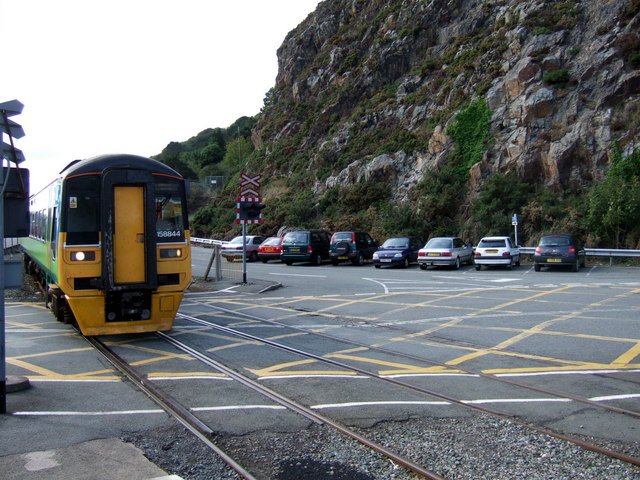Arriving at Fishguard by rail