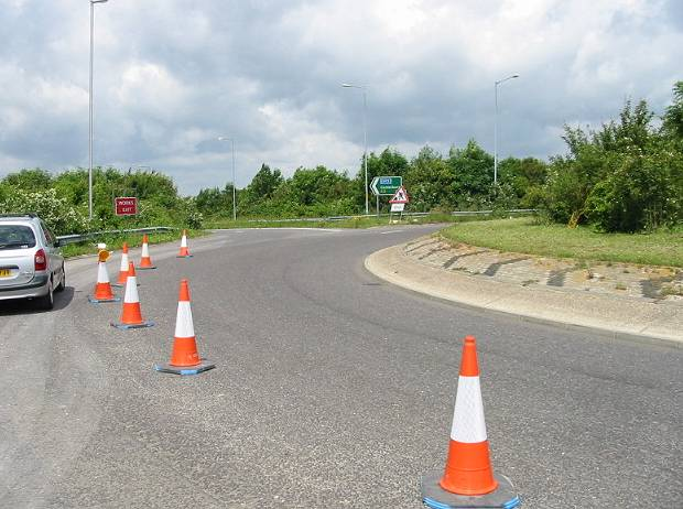 A2 London bound exit from roundabout