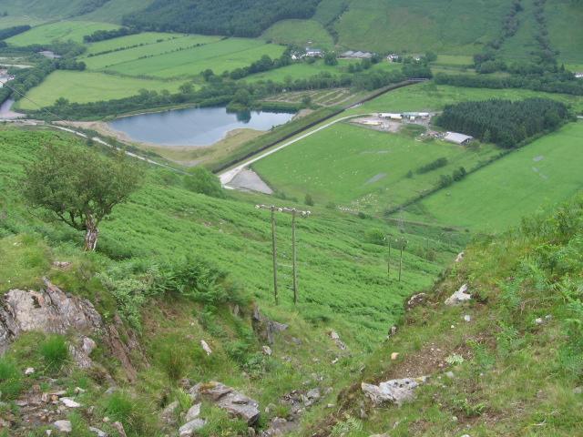 Hillside above Clachan Power Station