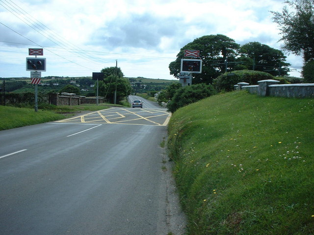 Manx Electric Tram crossing at Ballabeg