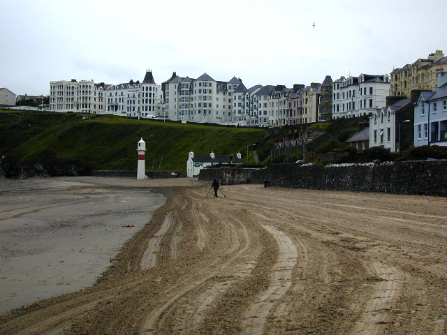 Port Erin, beach and seafront buildings