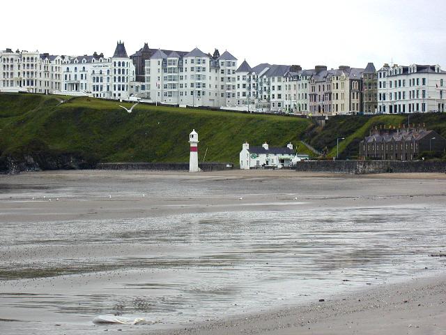 Port Erin beach and lighthouse
