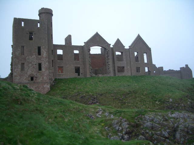 Slains Castle from below the cliff top