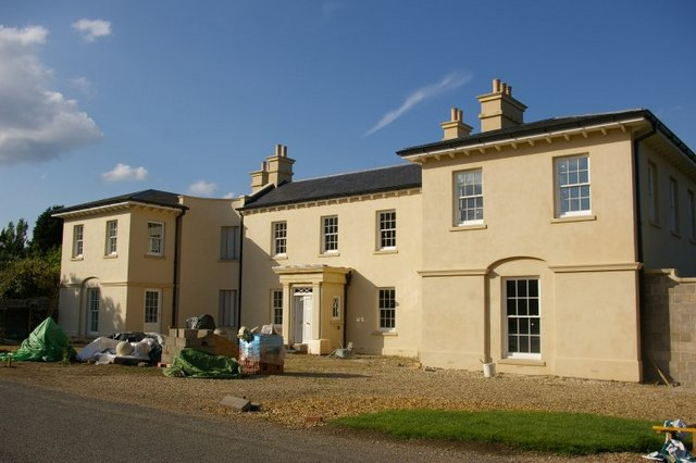 New house just finishing construction at Barcham Farm