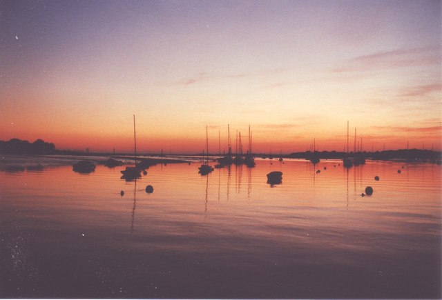 Itchenor moorings at dusk