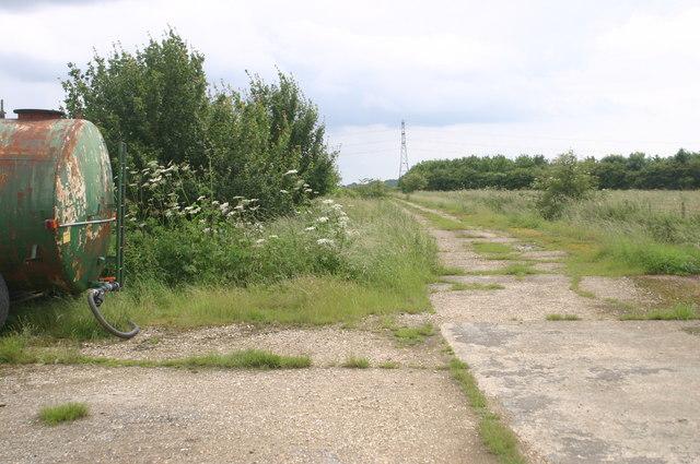 Old airfield near Greenway Farm