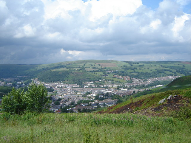 Looking over Cymmer and Porth