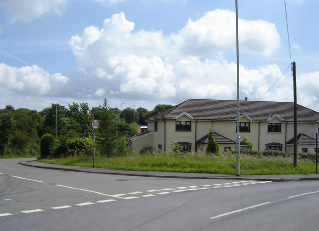 Road Junction - near Tonyrefail