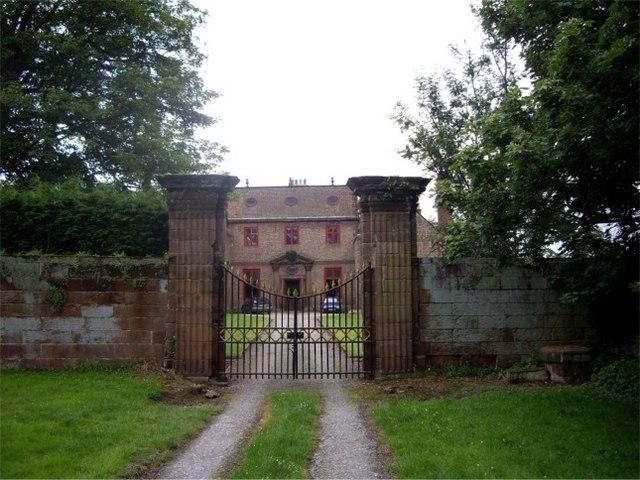 Gates to Thurstaston Hall