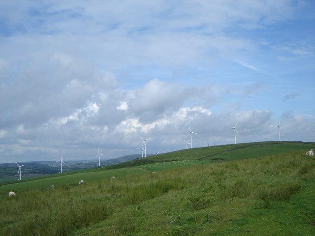 Windfarm, from near the Ogwr Ridgeway walk
