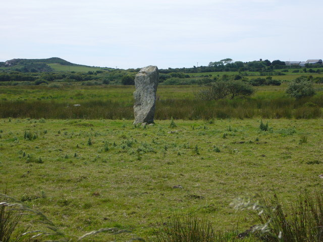 Standing stone on 'Rhos Manorowen'