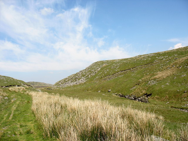 The water gap leading to Waun-y-Griafolen